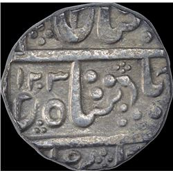 Silver One Rupee Coin of Ahalya Bai of Maheshwar Mint of Indore State.