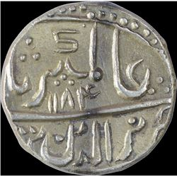 Silver One Rupee Coin of Nagor Dar ul barkat Mint of Jodhpur State.