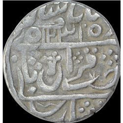 Rare Silver One Rupee Coin of Sawai Jaipur Mint of Karauli State.