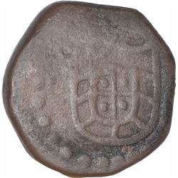 Copper Four Bazarucos Coin of D Joao III of Indo Portuguese.