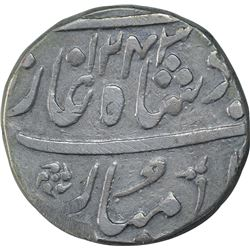 Silver One Rupee Coin of Ahmadabad Mint of Bombay Presidency.