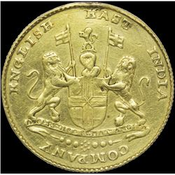 Very Rare Gold Ashrafi Mohur Coin of Madras Presidency.