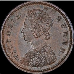 Copper One Twelfth Anna Coin of Victoria Queen of Madras Mint of 1862.