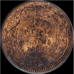 Copper Half Pice Coin of Victoria Empress of 1888.
