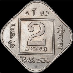 Cupro Nickle Two Annas Coin of King George V of Bombay Mint of 1926.