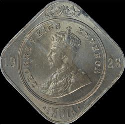 Cupro Nickel Two Annas Coin of King George V of 1928.