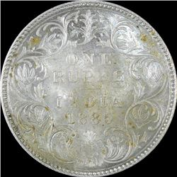 Silver One Rupee Coin of Victoria Empress of 1885.