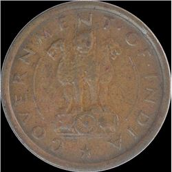 Bronze One Pice Coin of Hyderabad Mint of Republic India.