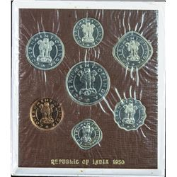 Republic India Proof Set of Bombay Mint of the Year 1950.