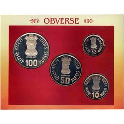 Proof Set of Sant Tukaram of Kolkata Mint of the year 2002.