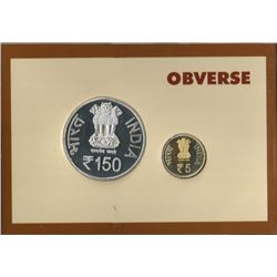 Proof Set of 150th Anniversary of Madan Mohan Malaviya of Mumbai Mint of the year 2011.