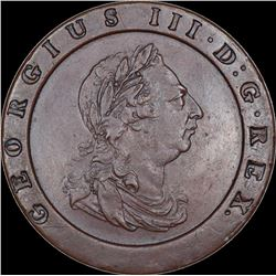 Copper Medallion of Georgius III D G of United Kingdom.