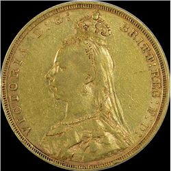 Gold Sovereign Coin of Queen Victoria of Great Britian.