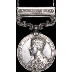 Silver General Service Medal of King George V of British India.