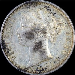 Error Silver One Rupee Coin of Victoria Queen of 1840.