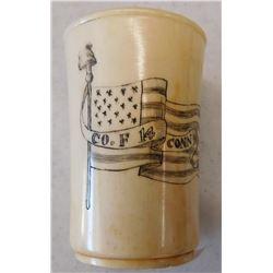 Schrimshaw Whale Bone Cup