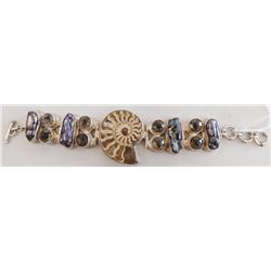 Fossil, Pearl & Gem Bracelet