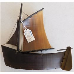 Eskimo Baleen Model Boat