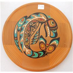 Northwest Coast Painted Cedar Plaque