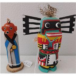 2 Hopi Kachinas