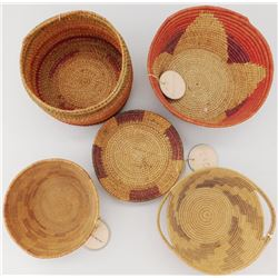 5 George Wharton James Indian School Baskets