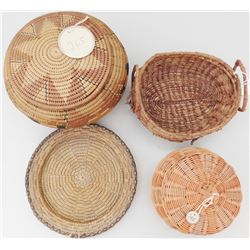 4 Indian Tribal Baskets