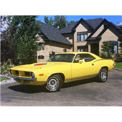 1973 PLYMOUTH BARRACUDA 340 MATCHING NUMBERS