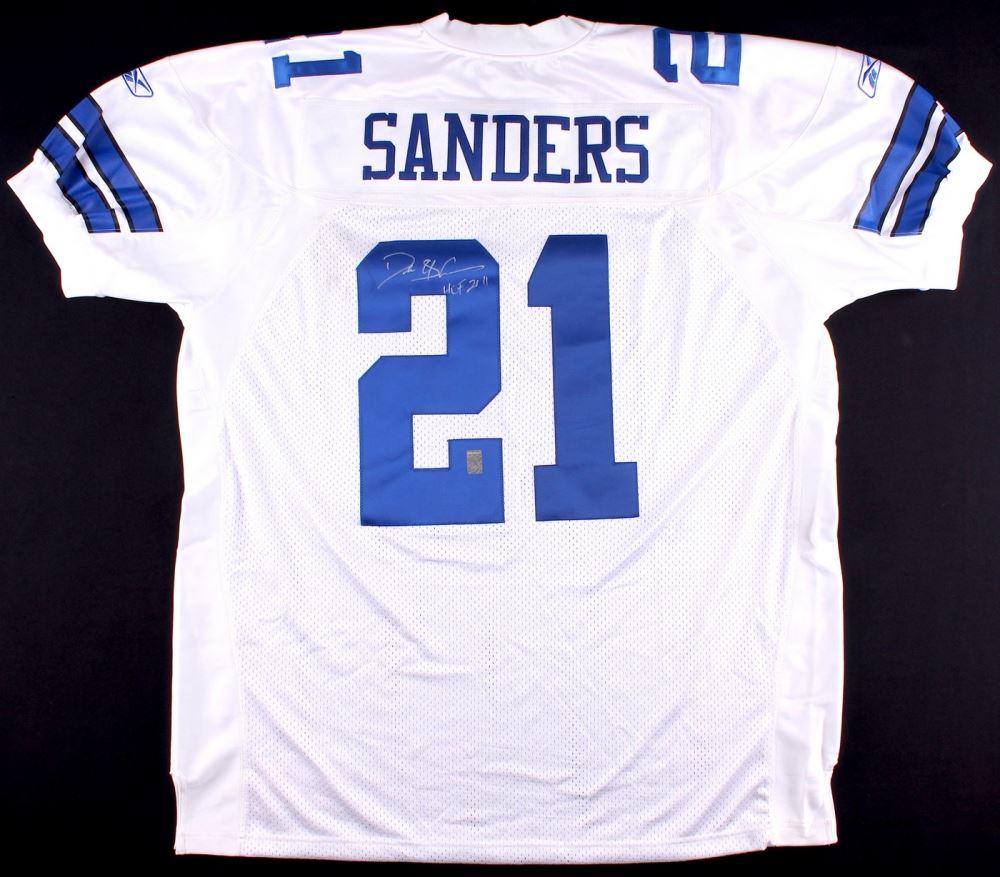 pretty nice 279b5 dbdbd Deion Sanders Signed Cowboys Jersey Inscribed