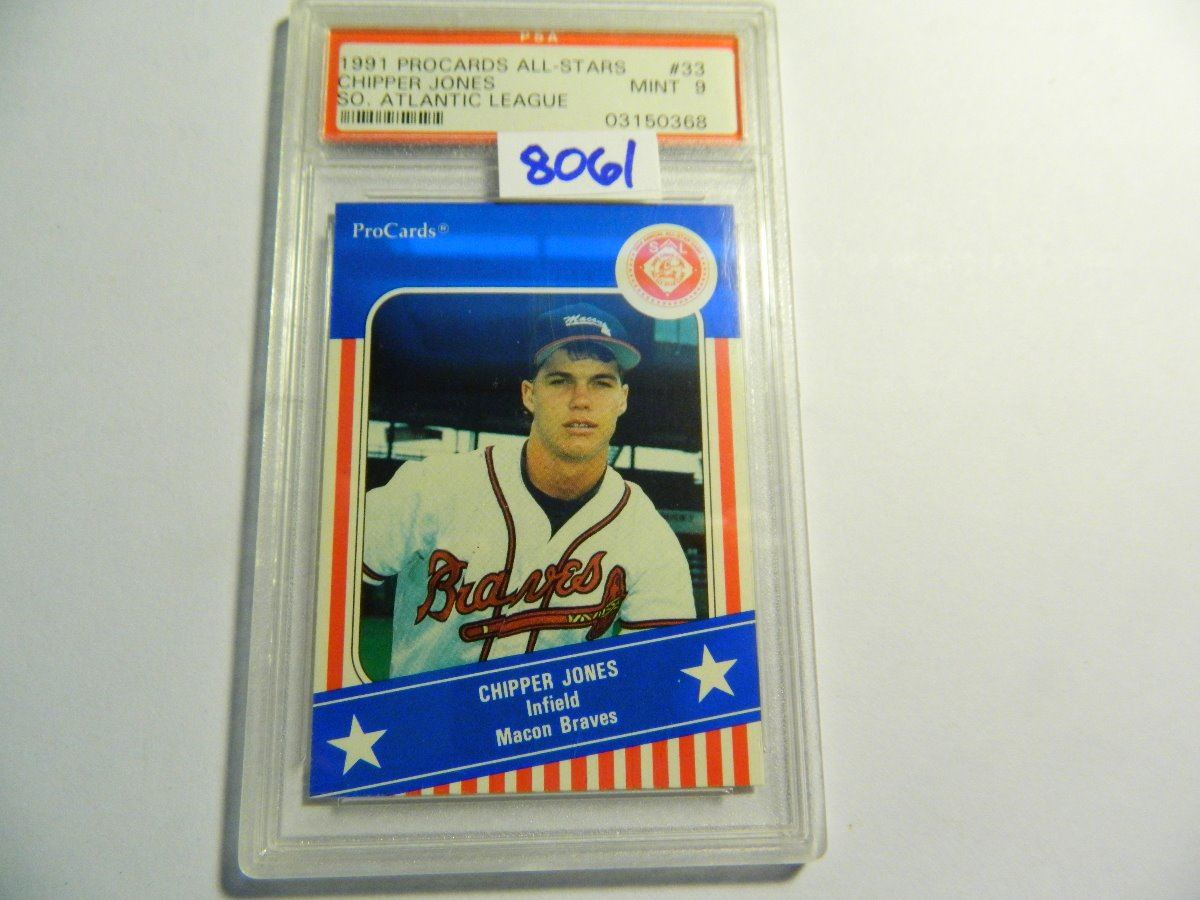 Chipper Jonesmacon Braves1991 Procards All