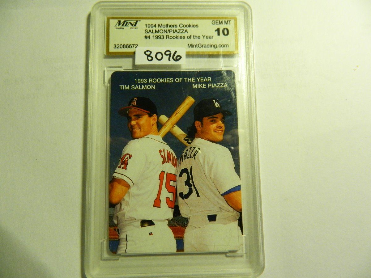 1994 Mothers Cookies 4 Mike Piazza Tim Salmon Rc