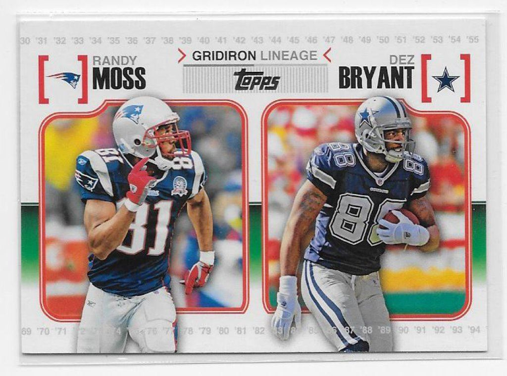 2010 Topps Gridiron Lineage Randy Moss Dez Bryant Rookie