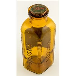 Large Amber Poison Bottle