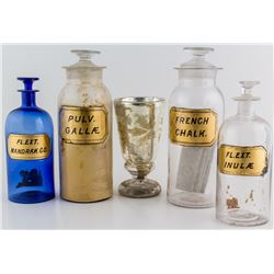 Glass Drugstore Ephemera from A. M. Cole's Virginia City Store