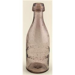 Philadelphia Glassworks, Burgin & Sons Soda