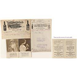 Rathjen Mercantile Co. and L.A. Scharff Distilling Ephemera