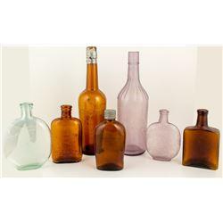 Group of Whiskey Bottles