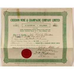 Foreign Wine Stock Certificates