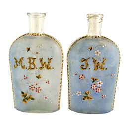 Hand Painted Whiskey Flasks