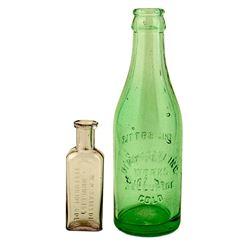 Two Telluride Bottles, Beer and Medicine