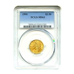 1900$2.50LibertyGOLDQuarterEaglePCGSMS63