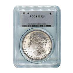 1881-S$1MorganSilverDollar-PCGSMS65