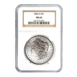 1884-O$1MorganSilverDollar-NGCMS63