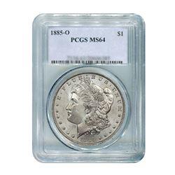 1885-O$1MorganSilverDollar-PCGSMS64