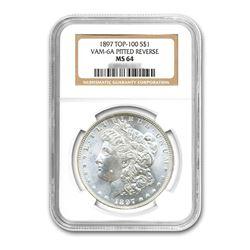 1897$1MorganSilverDollarTop100VAM6APittedRevUNCDetails-ImproperlyCleaned