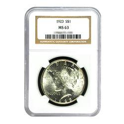 1923$1PeaceSilverDollar-NGCMS63