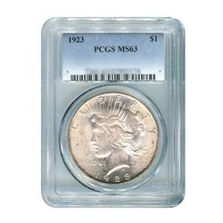 1923$1PeaceSilverDollar-PCGSMS63