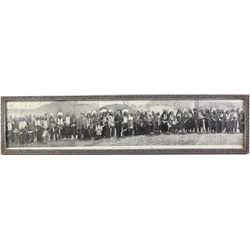 Original B&W panoramic of Buffalo Bill Cody