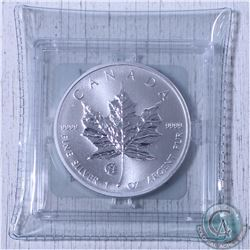 2014 Privy Mark F15 Canada $5 Silver Maple Leaf in original capsule from the Mint (lightly toned) Ta
