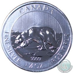 2013 $8 Canada Polar Bear 1.5oz Fine Silver coin(TAX Exempt)