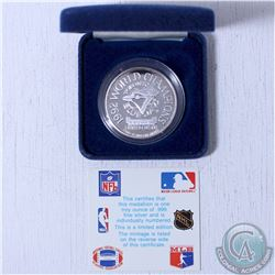 1992 1oz. 999 Fine Silver world Series Toronto Blue Jays World Champions Limited Edition Medal. (Tax